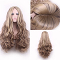 high quality women hair wigs cheap blonde ombre wig heat resistant pastel lolita long curly blonde wig synthetic wigs cosplay