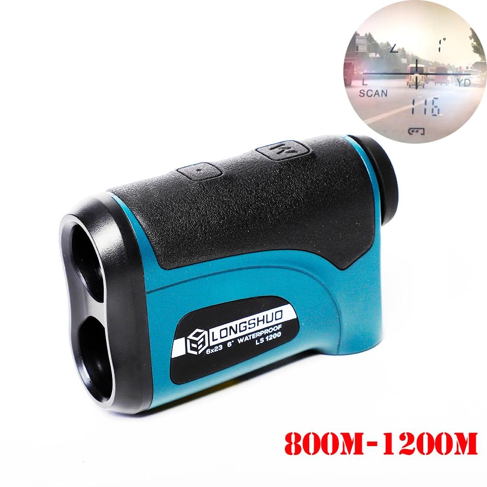 Laser Rangefinder Hunting 800m 1200m Telescope Laser Distance Meter Golf Digital Monocular Range Finder  Angle Measuring Tool