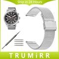 18mm 20mm 22mmm 24mm faixa de relógio milanese para citizen homens mulheres Malha Cinto Cinta de Aço Inoxidável relógio de Pulso Pulseira de Ouro Negro prata