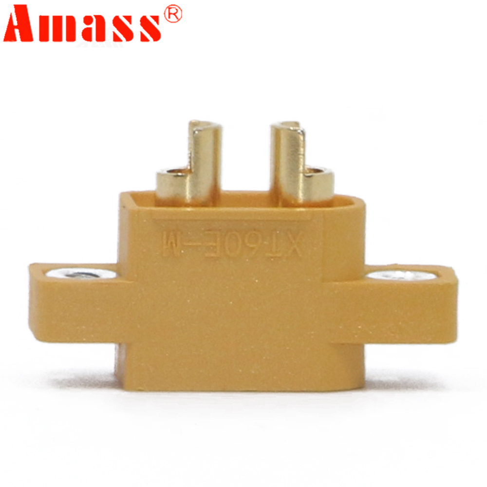 100pcs AMASS XT60E-M Male Plug Connector ForFPV Racing Models Multicopter Fixed Board DIY Spare Part
