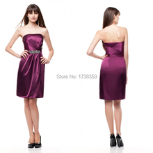 Free Customize All Size and Multi Color A-line Elegant Off The Shoulder Cheap Bridesmaid Dress Strapless 2015 For Wedding Party