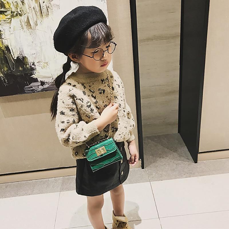 Children Mini Hasp Design Cross-body Handbag Fashion Girls Kids PU Shoulder Children Chain Small Messenger Bag Princess Handbag
