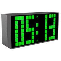 Ledนาฬิกาปลุกดิจิตอลอิเล็กทรอนิกส์นาฬิกาโต๊ะสก์ท็อปจับเวลาปฏิทินสำนักงานอิเล็กทรอนิกส์Reló...