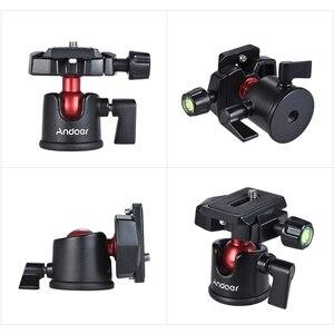 Image 4 - Adaptateur de support de trépied de table à tête sphérique Andoer avec plaque de dégagement rapide pour caméscope Canon Nikon Sony DSLR