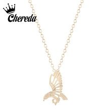 Chereda Hollow Eagle Shape Girl Necklace&Pendant for Women Men Unique Statement Delicate Necklaces Charm Jewelry delicate beads hollow ring for women
