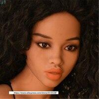 Новое поступление WMDOLL кукла голова для Африканской девушки секс куклы для мужчин оральный секс