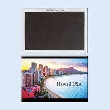 Hawaii USA honolulu seafront resort Travel souvenirs 22983 Magnetic refrigerator