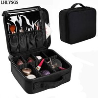 LHLYSGS Brand Cosmetic Case For Women Travel Beauty Necessity Waterproof Storage Toiletry Organizer Professional Makeup Bag