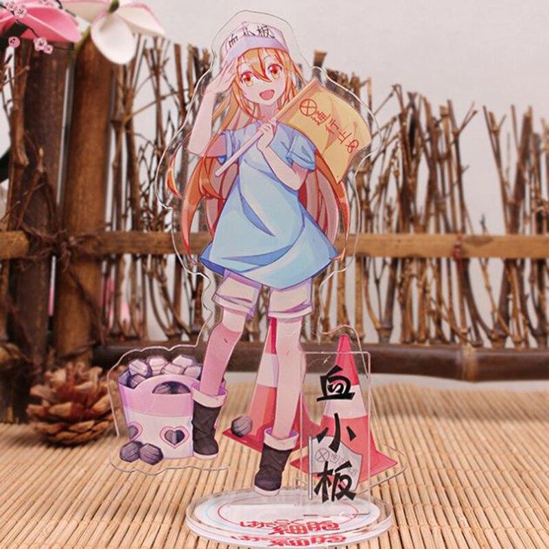 1 Pc Ziemlich Anime Zellen Bei Der Arbeit Acryl Stand Modell Spielzeug Platte Halter Action Figure Anhänger Ornament Spielzeug Kinder Geschenk