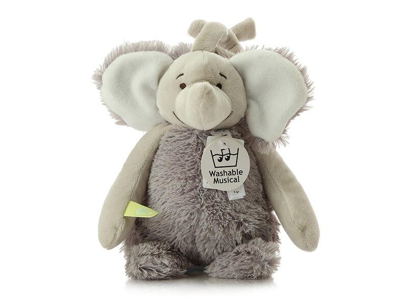 Evry éléphant musique anneau cloche éléphant en peluche jouet oreiller de couchage pour coaxial poupée artefact poupée belle