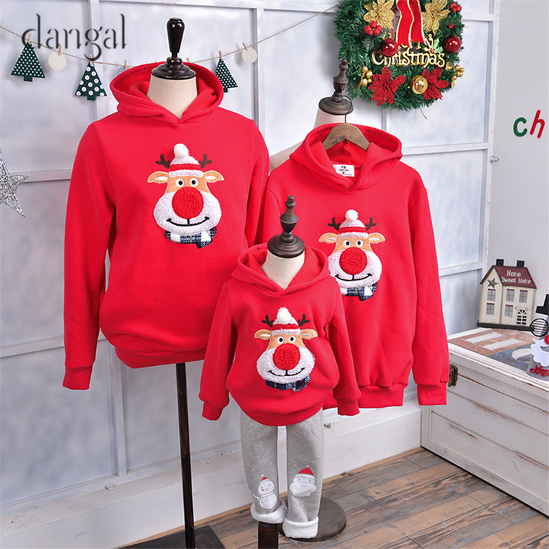 Cute Christmas Sweaters Family Christmas Family Sweaters Family Matching Clothes Couple Clothes Winter Warm Tick Loose Wholesale