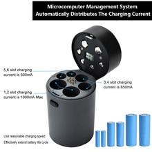 6 Slot Battery Charger Automatic LED Display for Ni MH Ni Cd AA AAA 18650 AI88