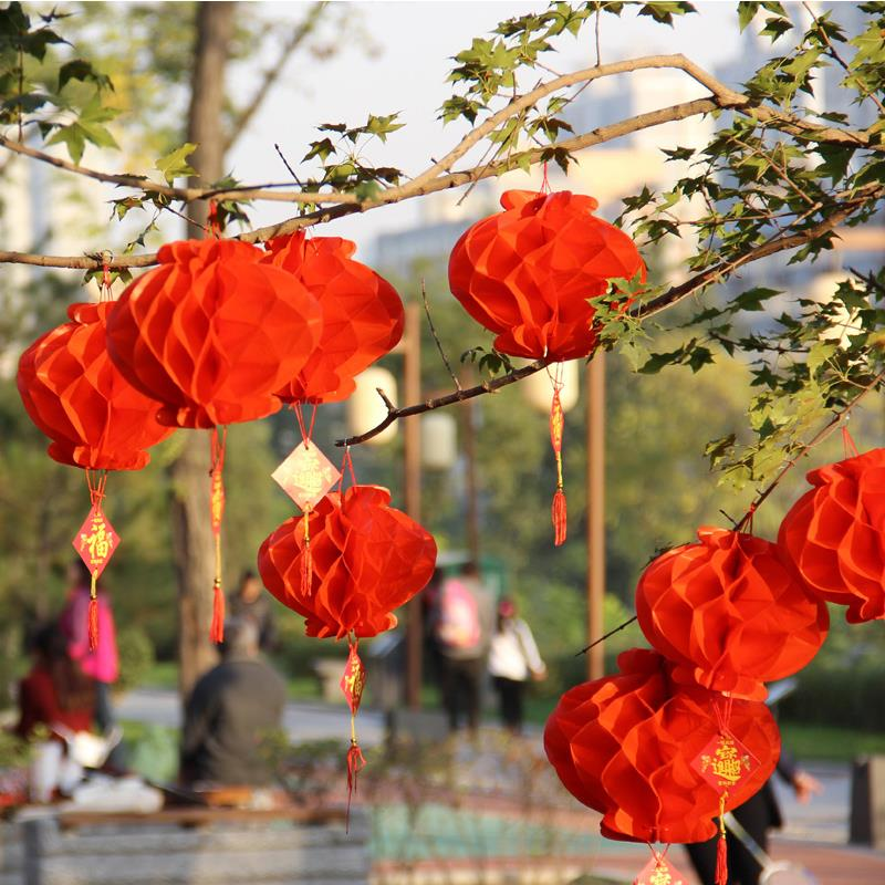 Cheap decoration items from china paper red lanterns xmas tree cheap decoration items from china paper red lanterns xmas tree decoration new year decoration in party diy decorations from home garden on junglespirit Choice Image