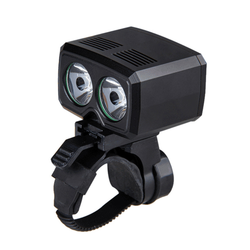 USB Rechargeable Bike Lamp 2x XM-L T6 Front Handlebar Bike Light Built-in Battery 5 Modes Headlight