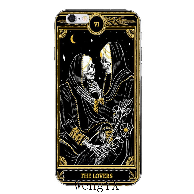 cool card black The Marigold Tarot Slim silicone Soft phone case For iPhone 4 4s 5 5s 5c SE 6 6s plus 7 7plus 8 8plus X