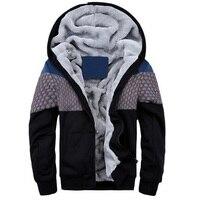 Brand Fashion Sweatshirt Winter Thick Hoodies Men New Cotton Hoodie Tracksuit Men Fleece Cardigans Mens Sweatshirts