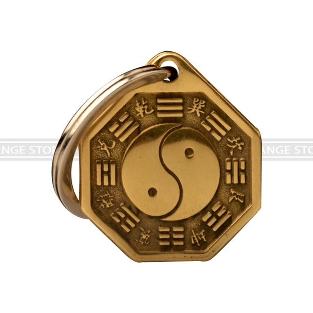 Feng Shui Spiegel feng shui concave convex bagua koperen spiegel sleutelhanger