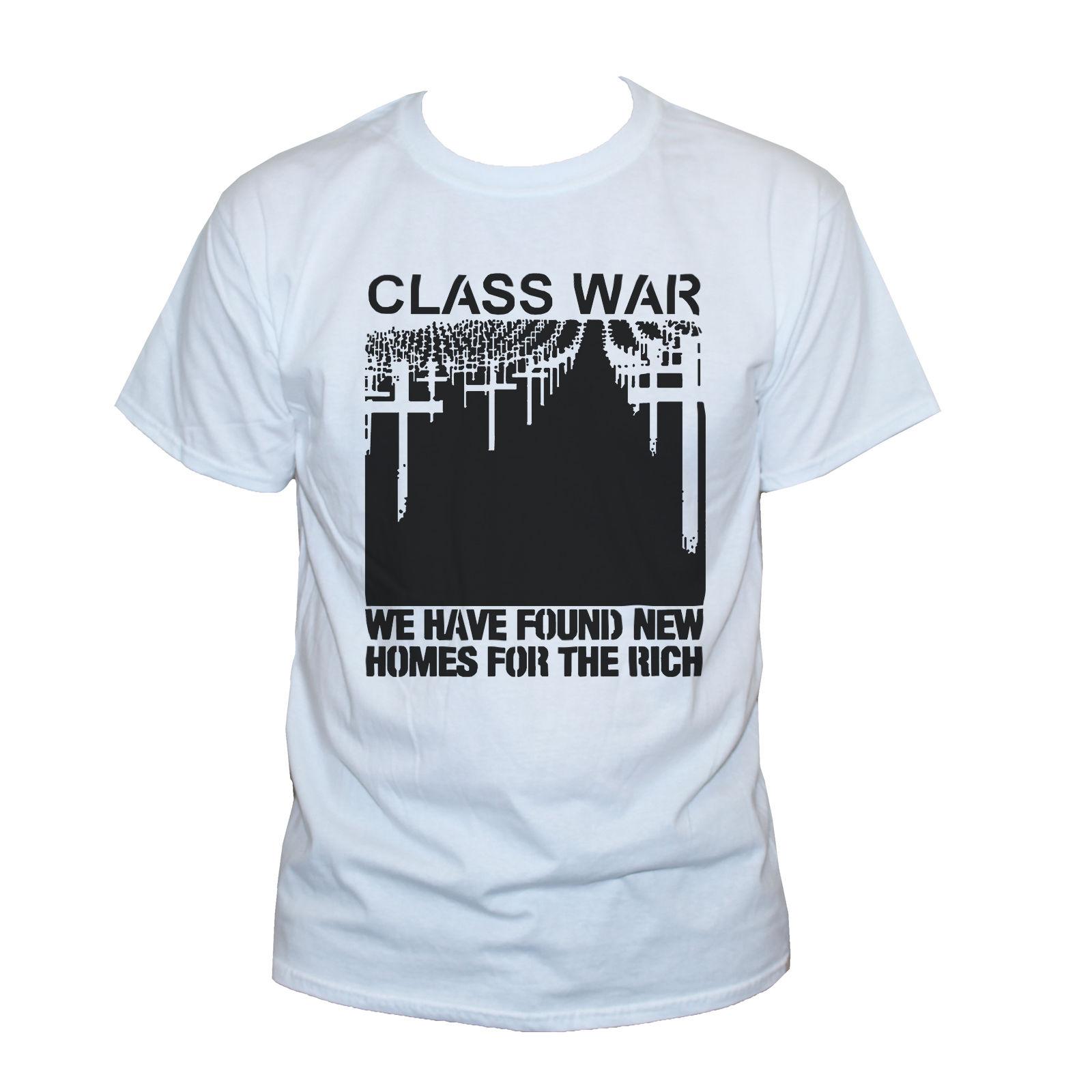 Fashion Design Free Shipping Class War T Shirt Protest Anarchy Punk