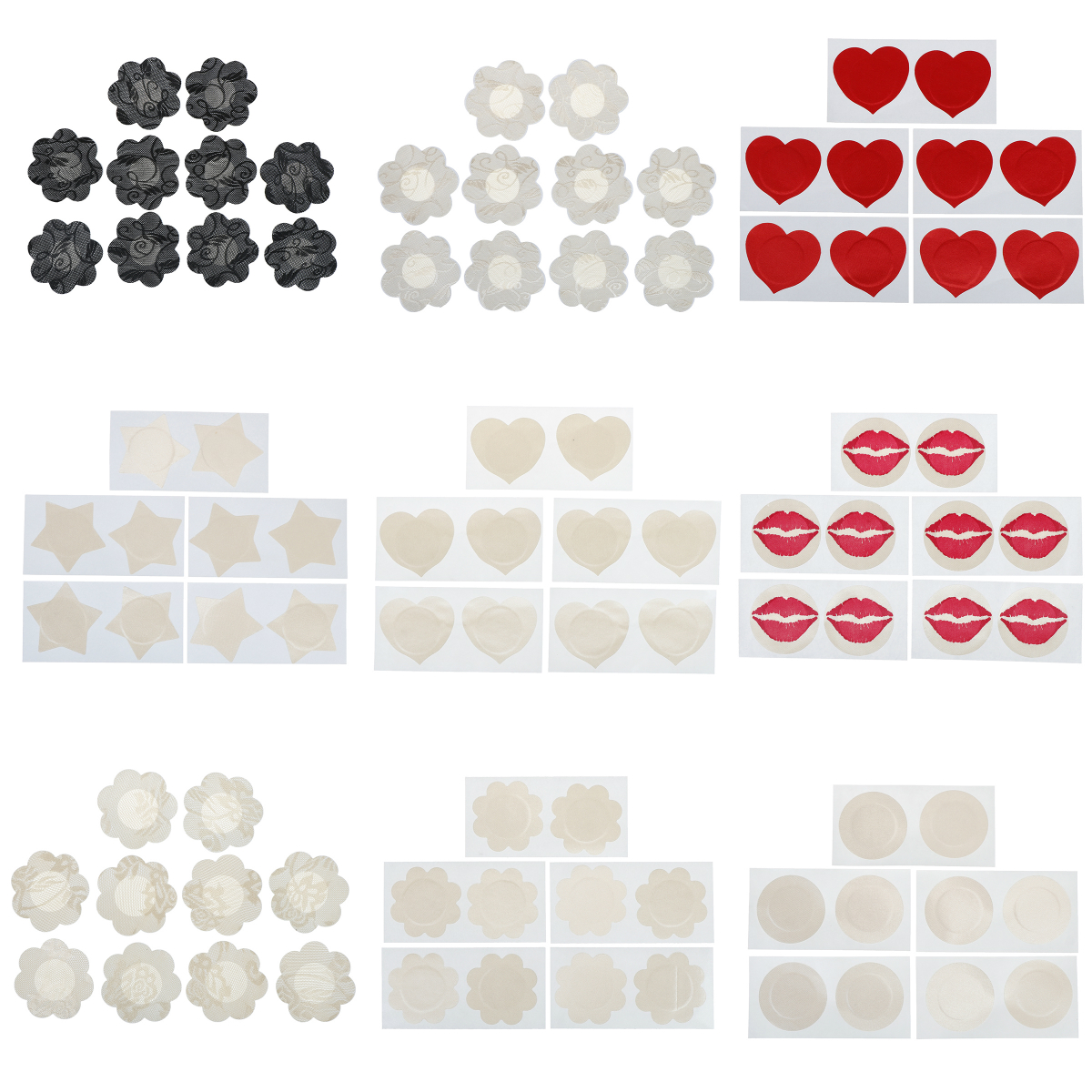5 Pairs Women's Invisible Breast Lift Tape Overlays On Bra Nipple Stickers Chest Stickers Adhesivo Bra Nipple Covers Accessories