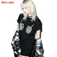 Punk Skull T Shirt Punk Shirt Goth Gothic Clothing Lolita Rock Hip Hop Dance Costumes Hippie