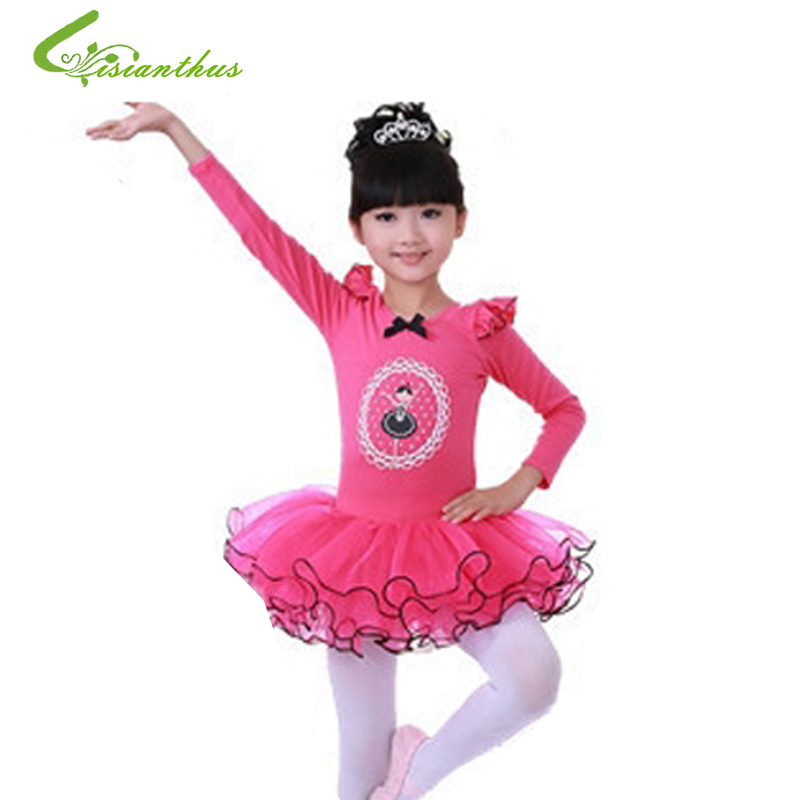 Girls Swan Ballet Tutu Princess Dancing Dress Long Sleeve Party Clothes Kids Children Stage Show Costumes Free Drop Ship christmas dress professional ballet tutu fashion dance dress performance wear costumes th1034c hair accessory clothes children