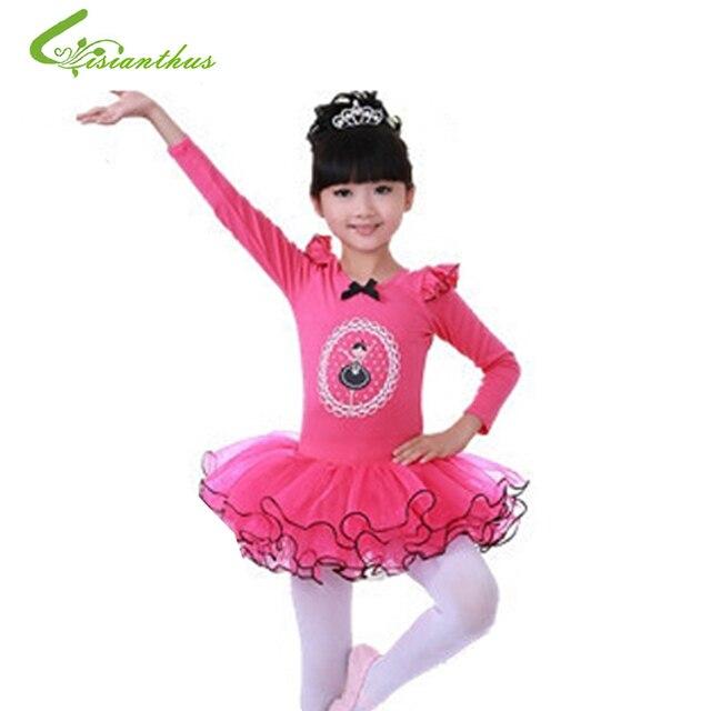 Niñas Cisne Ballet princesa tutú bailando Vestido de manga larga ...