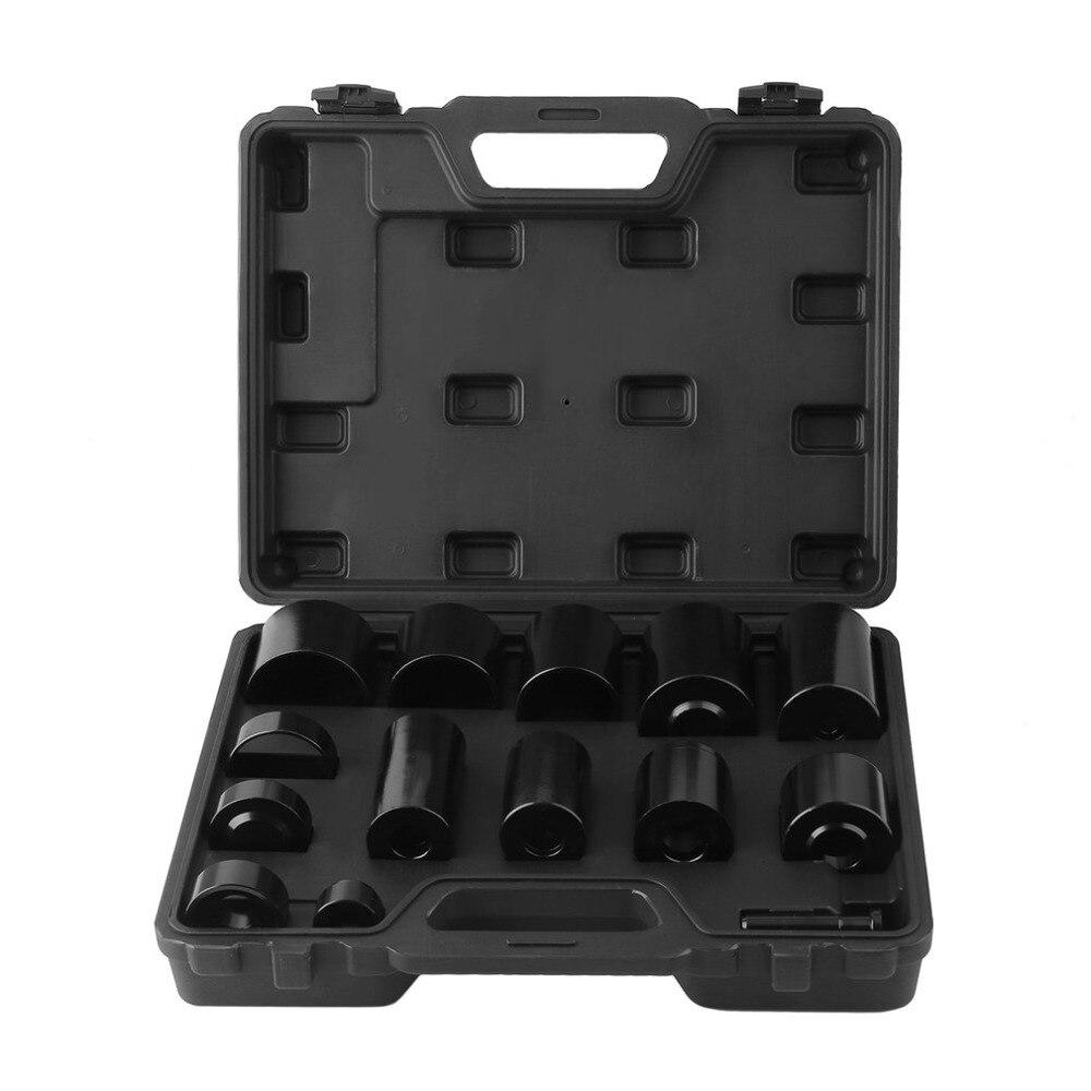 Black Box 14 PCS Drill Exchanger Set Workshop Professional Presses Bearing Set Durable Removal Sleeve Kit Car Repairing Tool