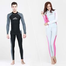 Women Men UPF50 Swimsuit Swimwear Snorkeling Wetsuit Windsurf Surfing Diving Suit Long Sleeve Shirt & Pant Swimming Wetsuits
