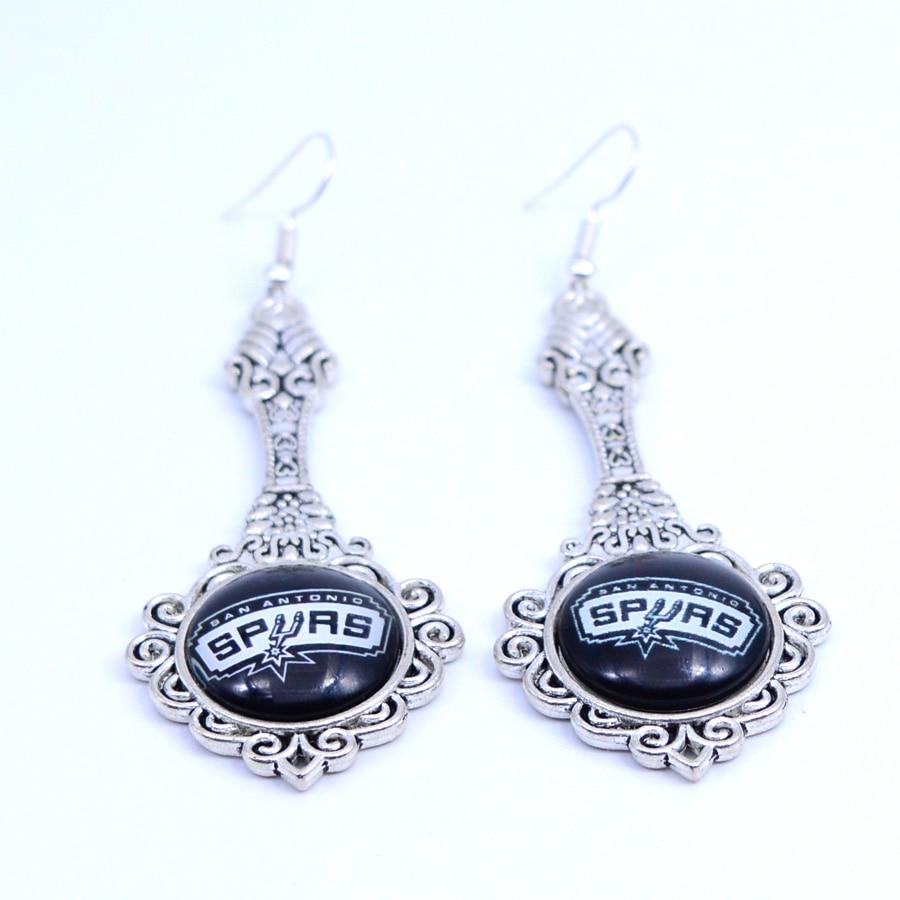 Earrings San Antonio Spurs Charms Dangle Earrings Sport