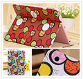 wholesale New arrival Fashion Sun Flower Pattern Stand Cover for apple ipad3 ipad4 PU Leather Case cover For iPad2 freeshipping