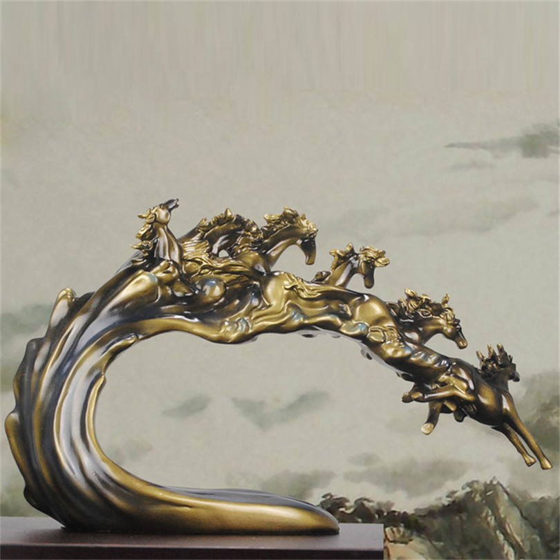 Metallobjekte Antiquitäten & Kunst Provided Wunderschöne Alte Schwere Bronze Skulptur Wildes Pferd.