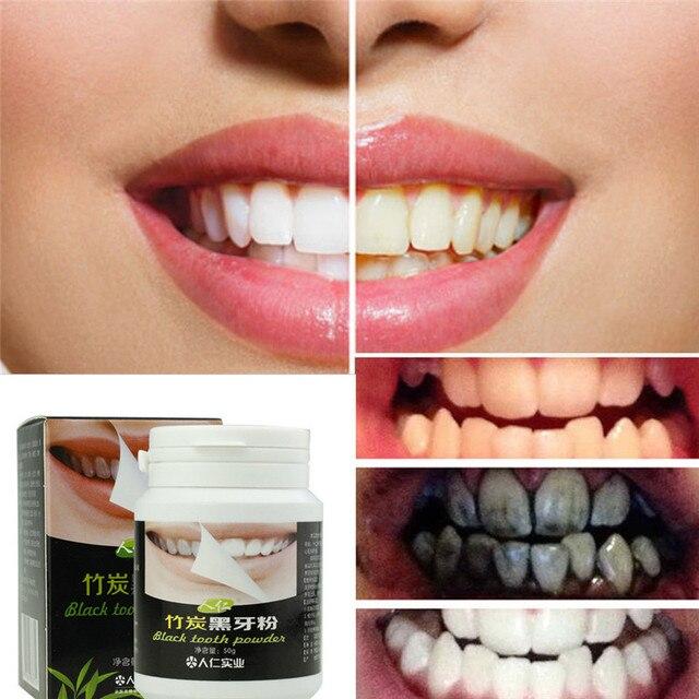 Alami Organik Arang Aktif Bubuk Perawatan Pemutihan Gigi Bubuk Gigi