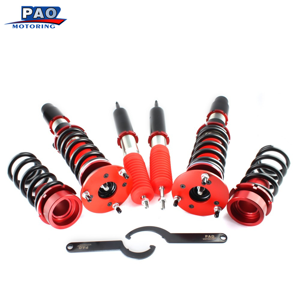 For 2006 2013 BMW 3 Series E90 Full Set Coilover Spring Kit Coil Spring Shocks Damper Suspension Struts
