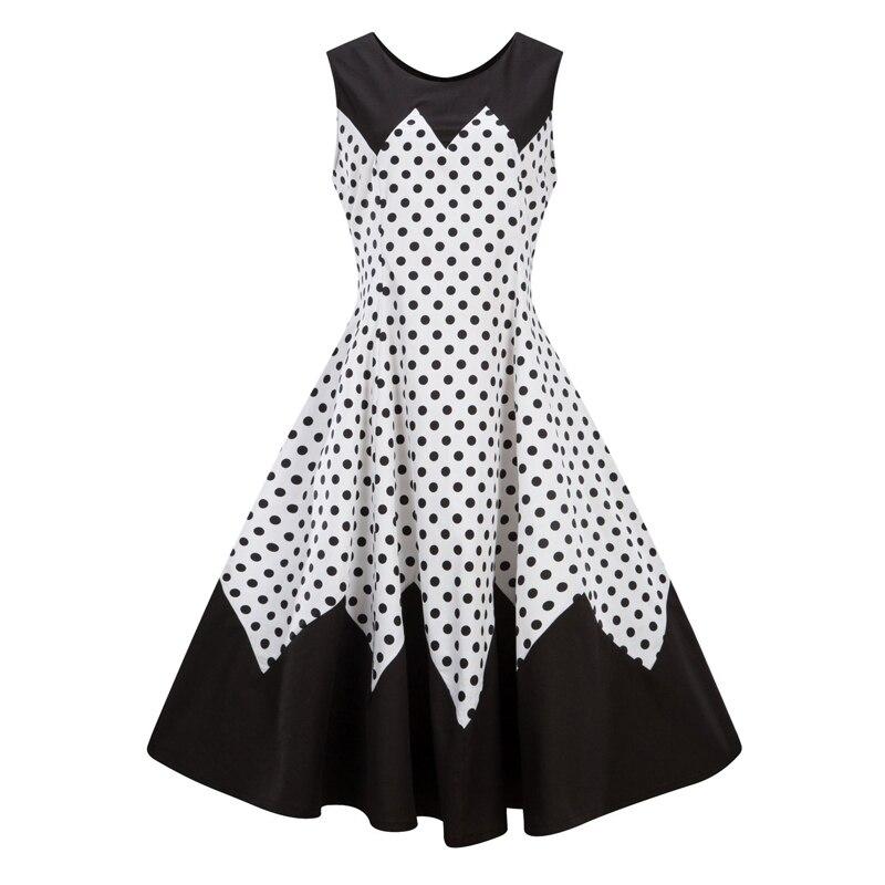 HTB1Lo.JfKuSBuNjy1Xcq6AYjFXaQA Line Casual Rockabilly Skater Swing Plus size Dress