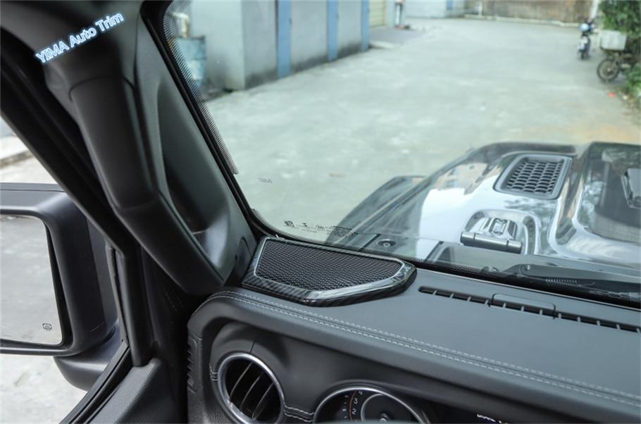 Lapetus Dashboard Pillar A Sound Speaker Frame Cover Trim 2 Pcs Fit For Jeep Wrangler JL