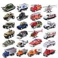 1: 64 Frete grátis hot wheels Liga conjunto Modelo de Carro Diecast Toy Presentes De Avião de Combate A Incêndios Ambulância Da Polícia Militar Para crianças
