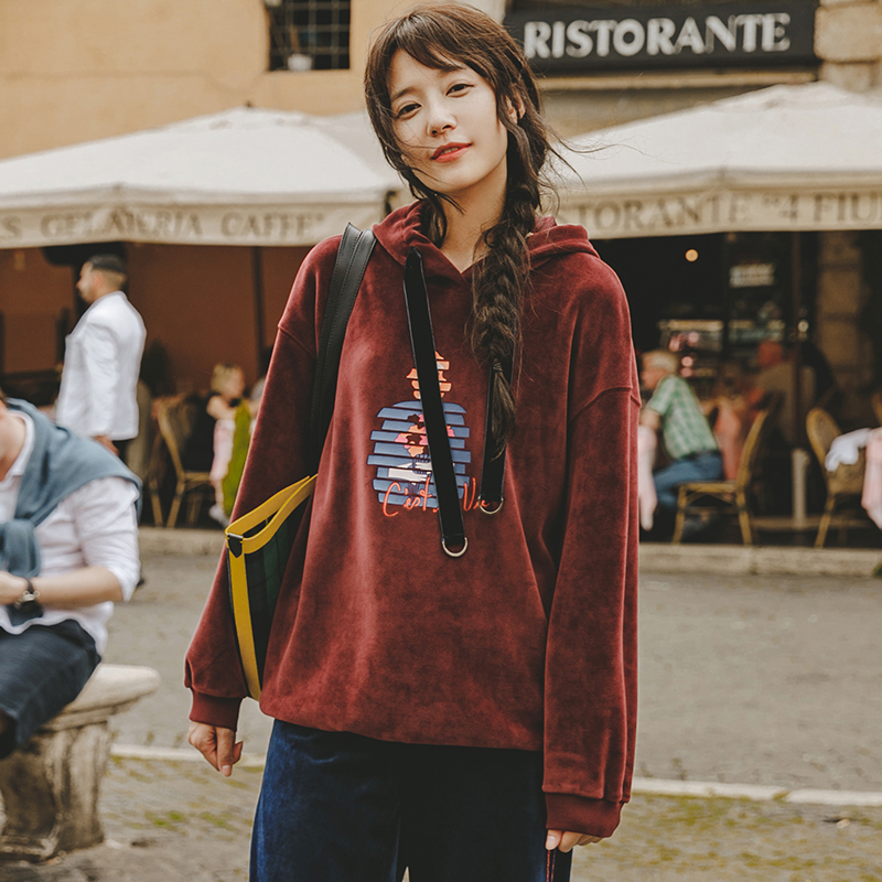 INMAN 2018 automne nouveaux Sweatshirts femmes cordon Hoodies mouvement Style décontracté à manches longues pull à capuche