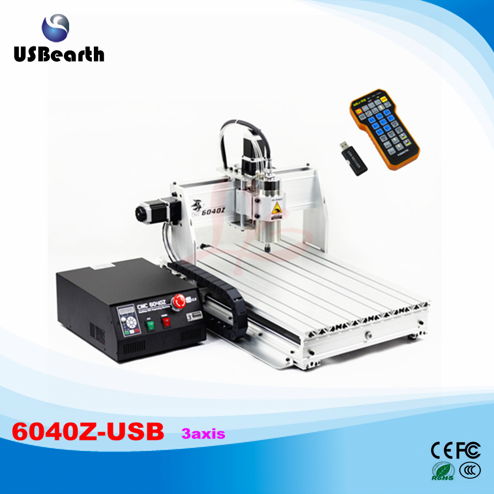 CNC 6040Z USB 3axis 2.2KW Router CNC machine with Limit Switch Metal Stone Drilling Milling Machine wood carving machine 6040 z vfd 4axis 1500w cnc router with usb port for metal drilling and milling