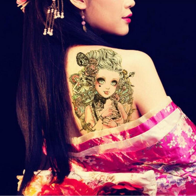 1 Stück Neue Ankunft Original Tattoo Wasserdicht Temporäre Tätowierung Aufkleber Blume Arm Persönlichkeit Sexy Tools Große Bild Tattoos Aufkleber GroßEs Sortiment