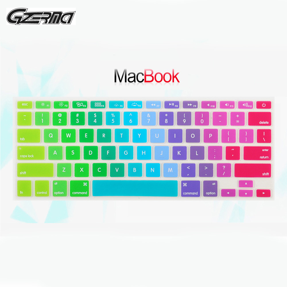 Silicone Rainbow Keyboard Cover Skin Protector For Apple Macbook Air Pro Retina 11 12 13 15 Inch Protective For Mac Book Laptop