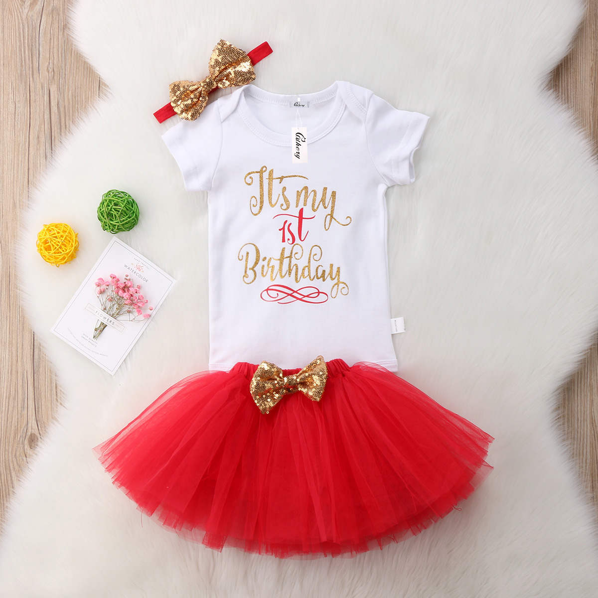 Baby Girl Kids First Second Birthday Outfit Its My Outift Bodysuit With Skirt In Clothing Sets From Mother On Aliexpress