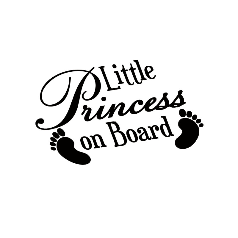 PRINCESS INSIDE Vinyl Decal Royal sticker cute girl funny
