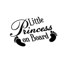 BABY FEET LITTLE PRINCESS ON BOARD Funny Car,Bumper,Window Vinyl Decal Sticker 15 7 7 7cm funny family on board the walking dead zombie automobile vinyl car window sticker decal fashion decor