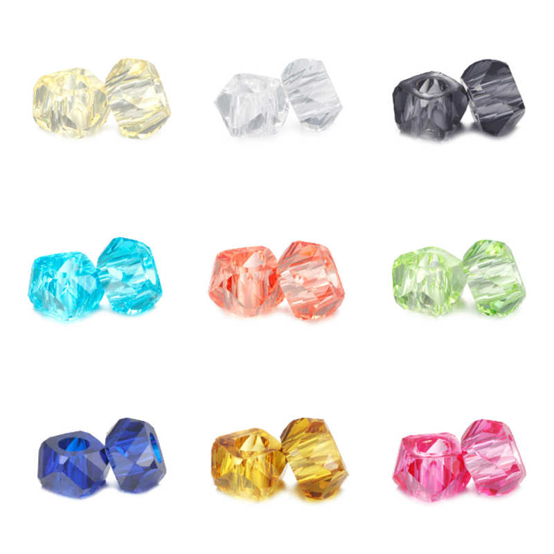 HOMOD Retail Fashion 12 Colors  Resin Beads Fits Pandora Charms Fits Brand Charms Bracelets & Necklaces For DIY Women Jewerly