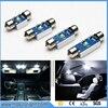 2pcs High Power Xenon White 6W 2 CRE'E Chip No Polarity Canbus c5w 31mm 36mm 39mm 42mm Festoon LED Light Bulbs