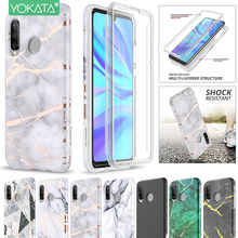 Yokata Soft Case for Huawei P30 lite 360 2 in 1 Shockproof Bumper Cover with Built-in Screen-protector