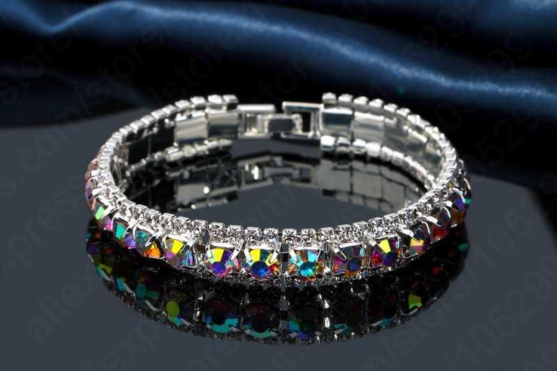 Łańcuszek bransoletka do dekoracji modny styl 925 srebro CZ cyrkonia zakochanych najlepszy prezent kobiety dziewczyny Party zaręczyny
