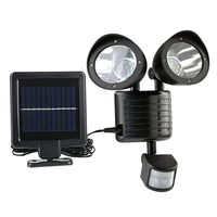 Energy Saving Double Solar flood Lamp for Street Yard Home Garden 22 LED Solar Power PIR Sensor Outdoor Waterproof Wall Light