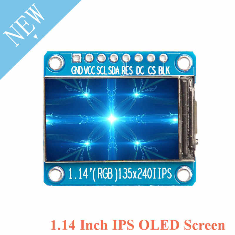 1 14 Inch IPS OLED Display Module LCD Screen 135*240 RGB TFT for Arduino  ST7789 LCD Board SPI Full Color HD OLED 8pin DIY