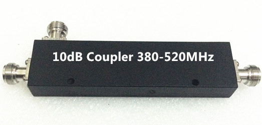 10dB directional coupler UHF 380-520MHz  200W  n female connector indoor
